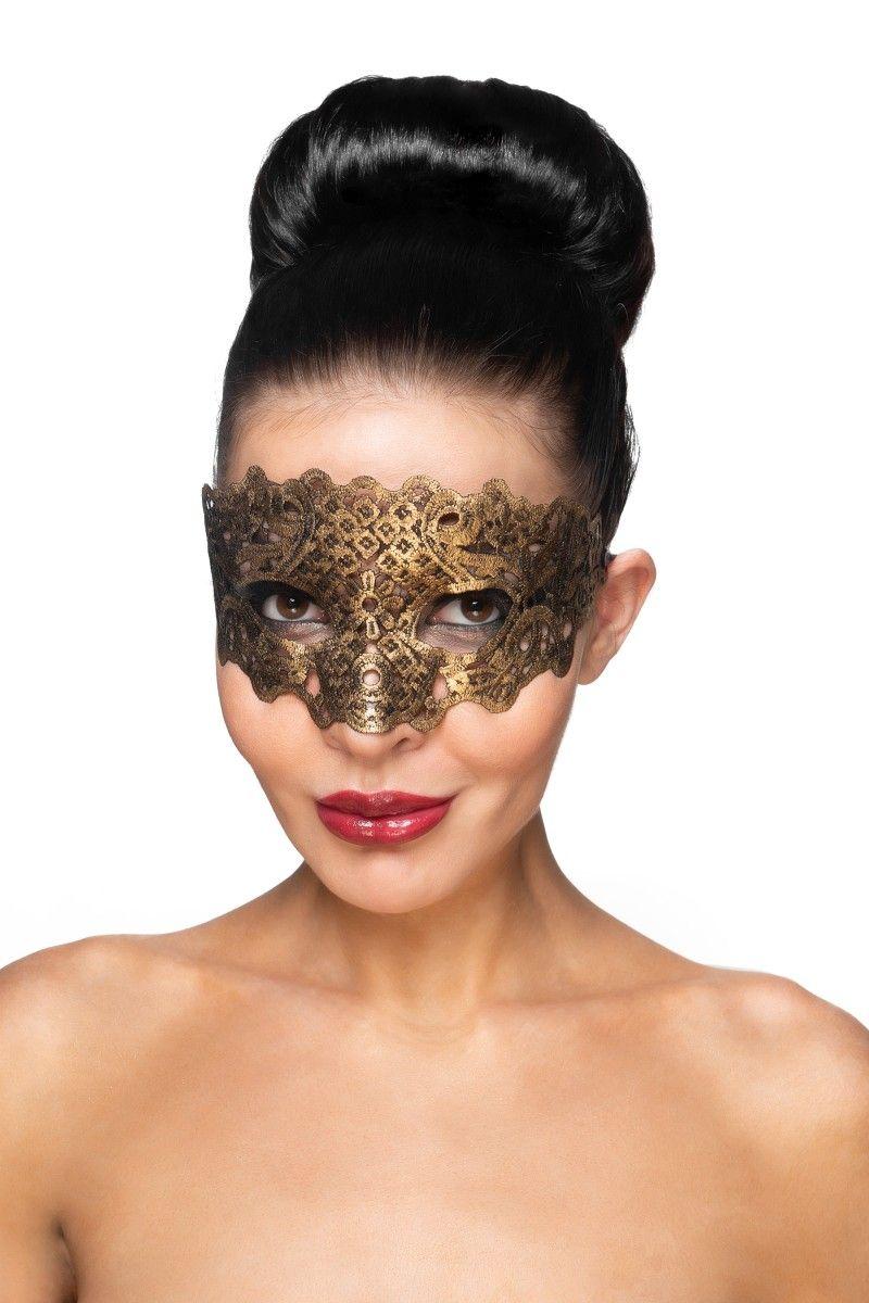 Золотистая карнавальная маска Каус