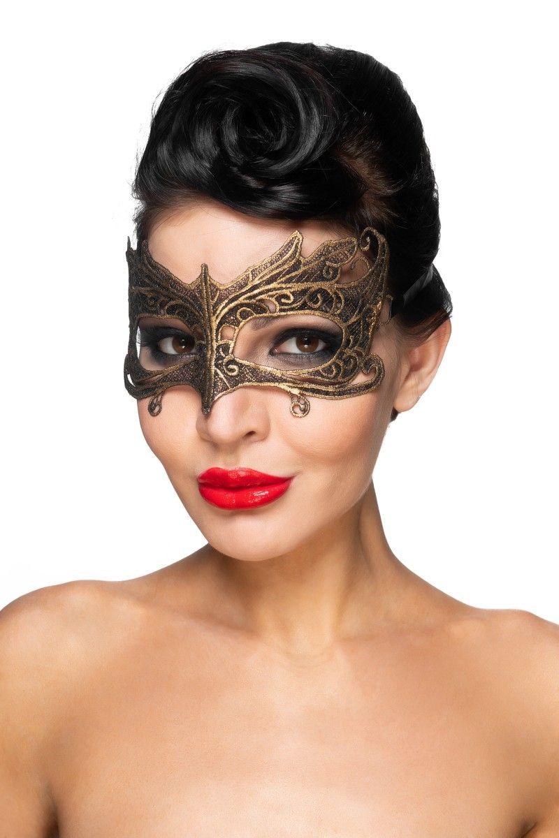 Золотистая карнавальная маска Наос